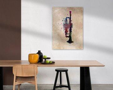 Trompete Musikinstrument Kunst #Trompete von JBJart Justyna Jaszke