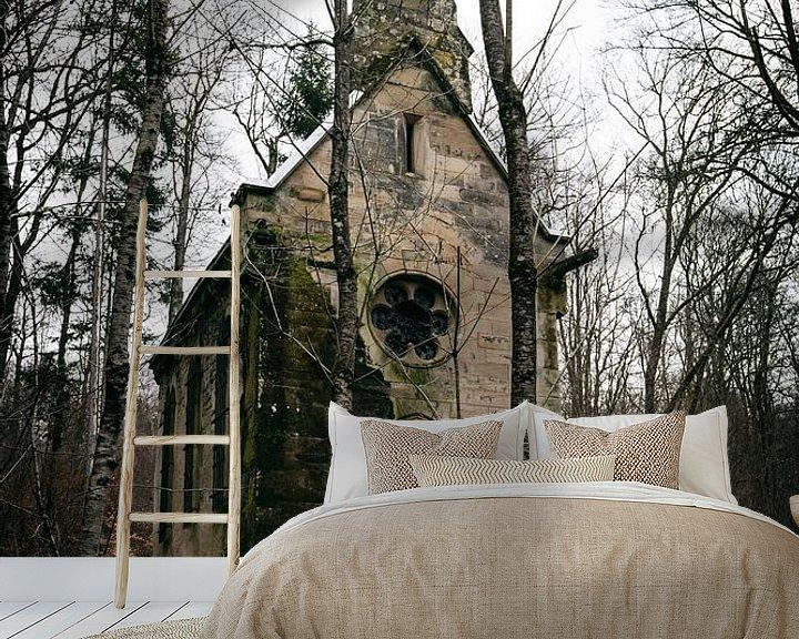 Beispiel fototapete: Verlassene Kapelle in Frankreich von Vivian Teuns