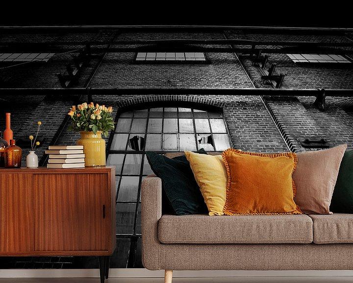 Beispiel fototapete: Alte Fabrik (schwarz und weiß) von Rob Blok