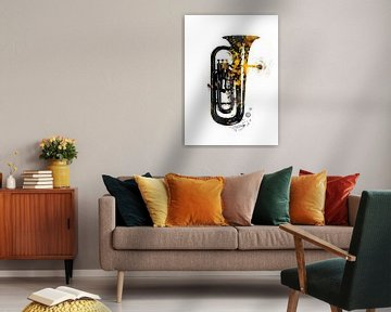 Tuba nusic instrument kunst #tuba van JBJart Justyna Jaszke