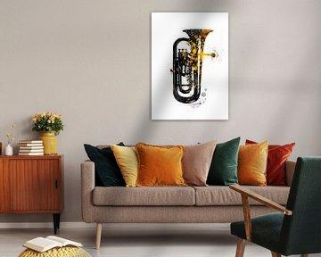 Tuba nusic instrument art #tuba von JBJart Justyna Jaszke