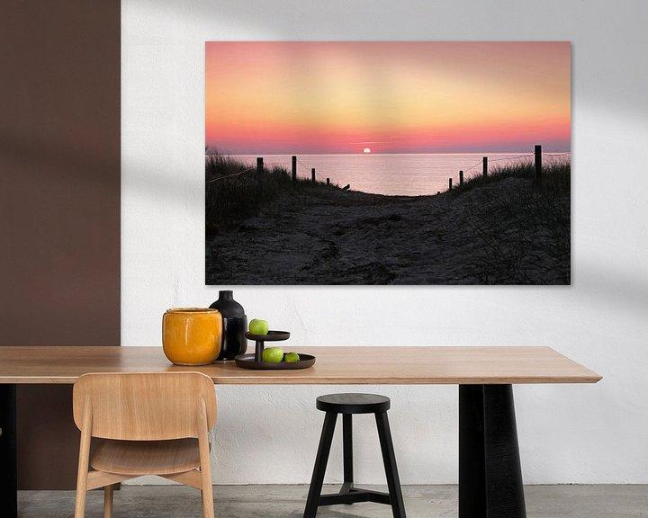 Beispiel: Dünenübergang in den Sonnenuntergang von Frank Herrmann