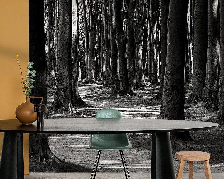 Sfeerimpressie behang: Forest van Frank Herrmann