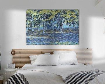 Paysage de forêt bleue sur Diana Mets