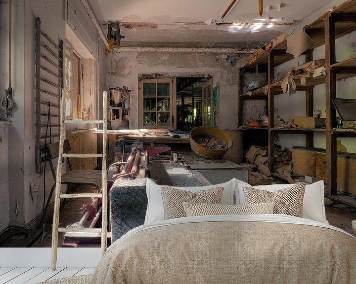 Beispiel fototapete: Verlassene Werkstatt von Vivian Teuns