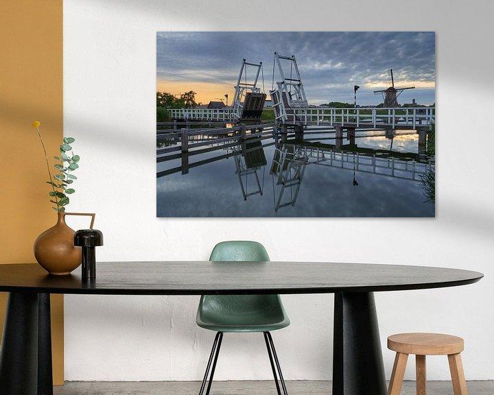 Impression: Pont-levis de Kinderdijk Patrimoine mondial de l'Unesco sur EdsCaptures fotografie