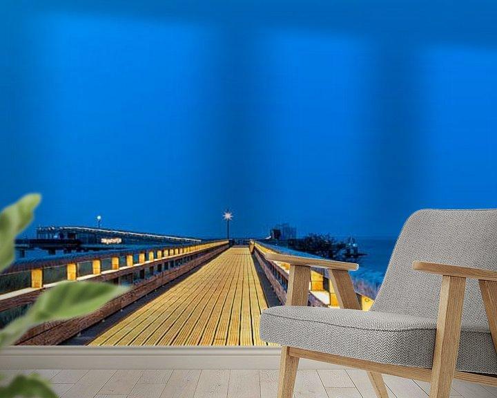 Beispiel fototapete: Heiligenhafen zur Blauen Stunde von Ursula Reins