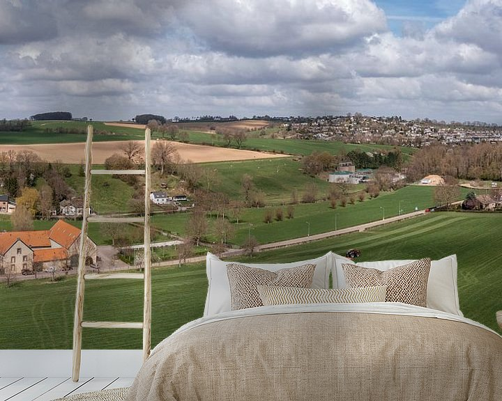 Sfeerimpressie behang: Luchtfoto van Bulkumsbroek en het Hulsveld in Simpelveld van John Kreukniet