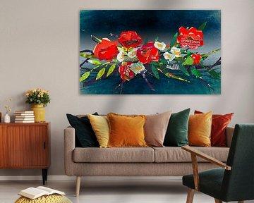Sechs geschredderte Rosen von Ruud van Koningsbrugge
