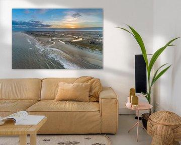 Slufter Texel zonsopkomst van Texel360Fotografie Richard Heerschap