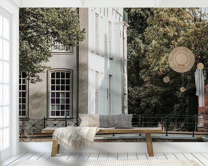 Sfeerimpressie behang: Binnenstad van Hanzestad Amersfoort   Holland van Trix Leeflang