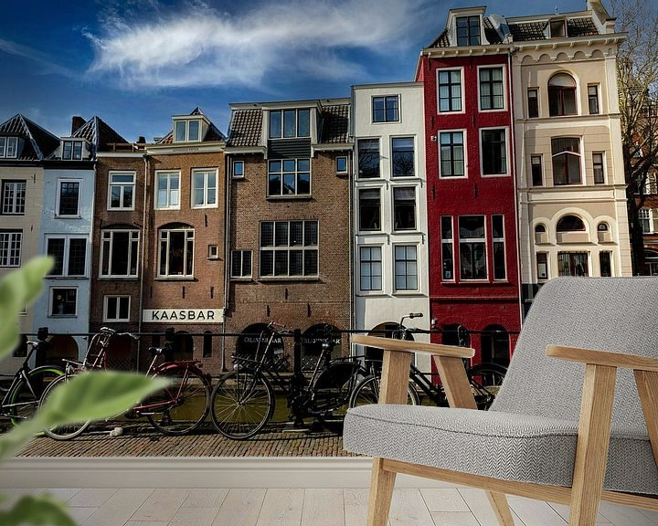 Sfeerimpressie behang: Oudegracht Utrecht van Peter Bontan Fotografie