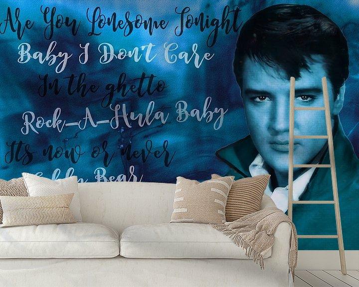 Beispiel fototapete: Legenden - Elvis Presley von Christine Nöhmeier