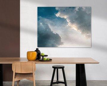 Bielatal in Saksisch Zwitserland - Wolken in de avond van Pixelwerk