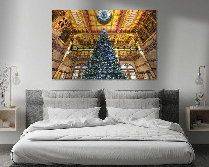 Sfeerimpressie: Kerstboom Stationshal Groningen van Frenk Volt