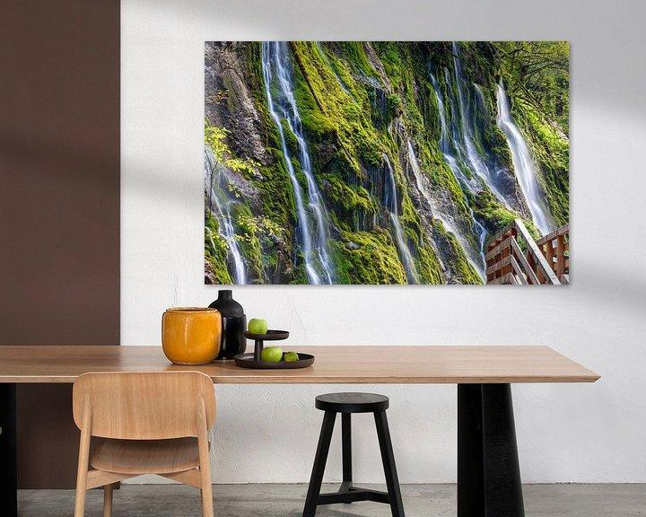Impression: Chute d'eau dans une gorge sur Tilo Grellmann | Photography