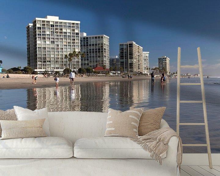 Sfeerimpressie behang: Coronado Eiland, San Diego van Peter Schickert