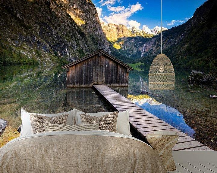 Sfeerimpressie behang: Boothuis aan de Obersee van Tilo Grellmann | Photography