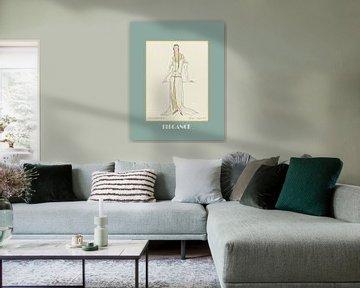 Elégance | Mode historique Art Déco Impression | Mode historique Publicité sur NOONY