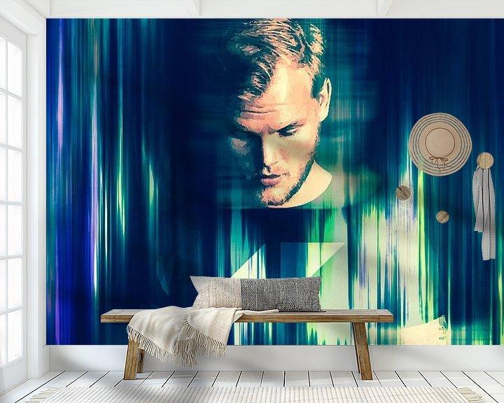 Beispiel fototapete: Avicii Tim Bergling Abstraktes Porträt von Art By Dominic