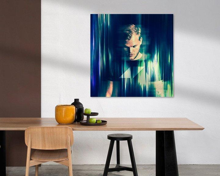 Beispiel: Avicii Tim Bergling Abstraktes Porträt von Art By Dominic