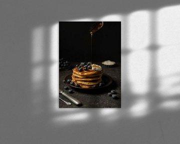 American pancakes met blauwe bessen van Blackbird PhotoGrafie