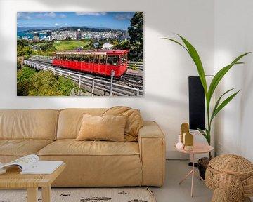 Kabelbaan in Wellington, Nieuw Zeeland van Christian Müringer