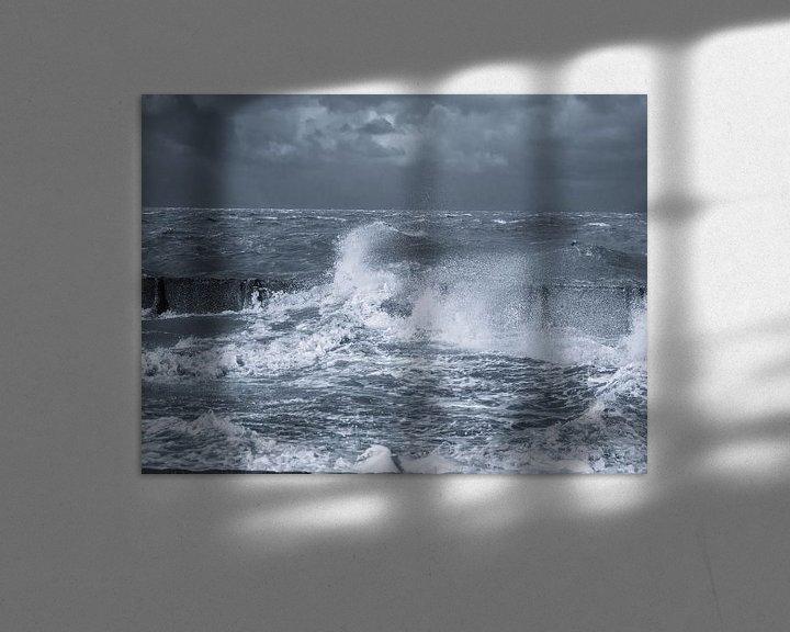 Sfeerimpressie: Donkere wolken boven de wadden van Martijn Tilroe