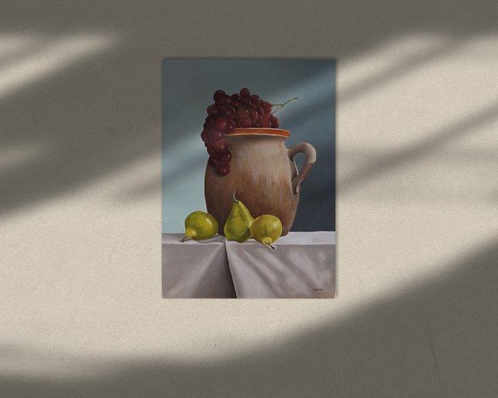 Beispiel: Dose mit Birnen und Trauben von Wilma Hage