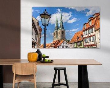 Kirchtürme und eine Laterne in Quedlinburg von Marc Venema