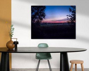 zonsondergang in Nauerna, Assendelft van Picsall Photography