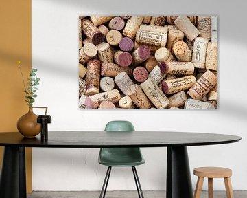 verzameling kurken van wijnflessen van Klaartje Majoor