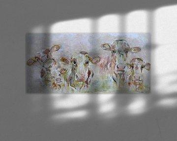 Szene Kühe von Kunstenares Mir Mirthe Kolkman van der Klip