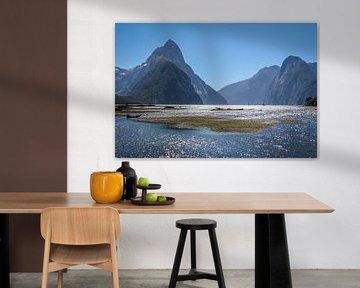Milford Sound en Mitre Peak, Nieuw Zeeland van Christian Müringer
