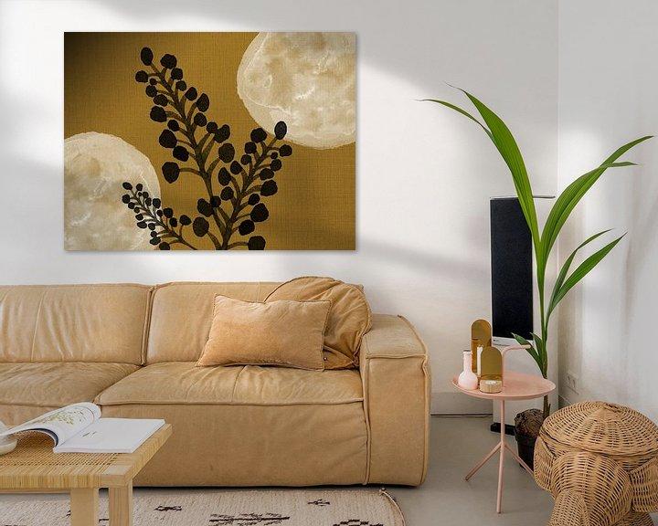 Beispiel: Schwarze Zweige auf Gold von Jadzia Klimkiewicz