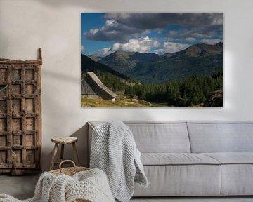 Schuur in Frans Alpenlandschap van Dennis Wierenga