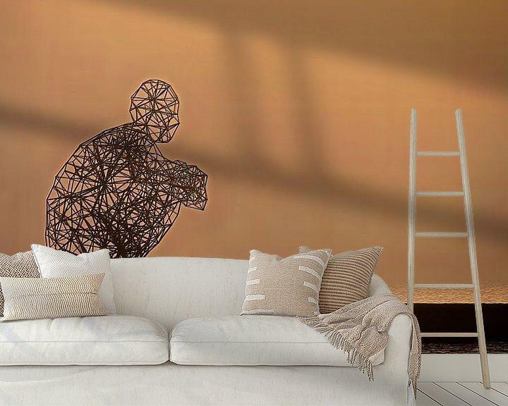 Sfeerimpressie behang: Exposure in gold and orange van Jan Enthoven Fotografie