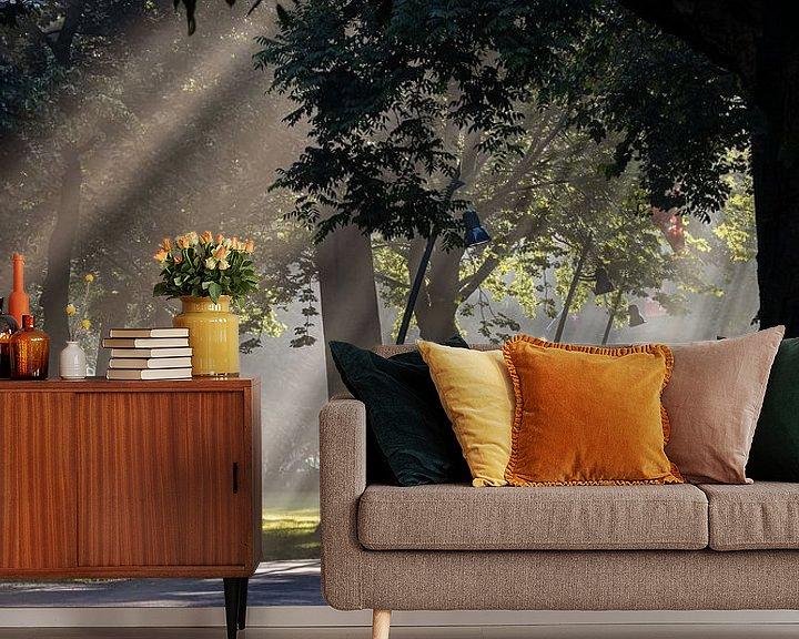 Sfeerimpressie behang: Een Regen van Zonnestralen van JPWFoto