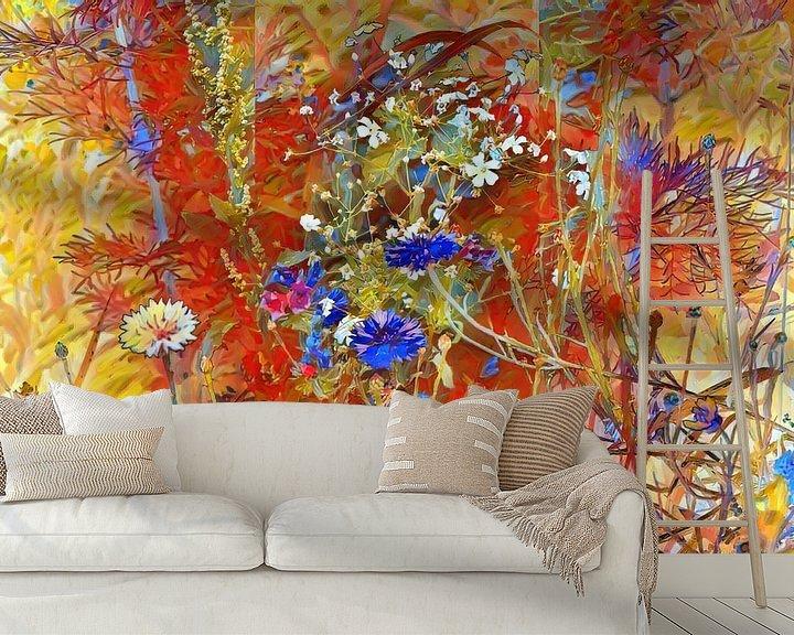 Beispiel fototapete: Sommerwiese mit Cornblumen von Patricia Piotrak
