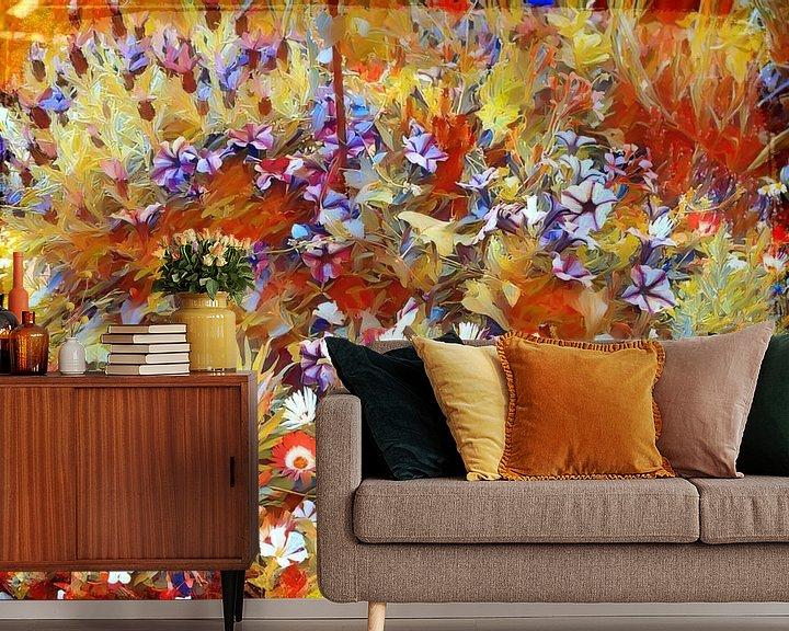 Beispiel fototapete: Bunte Blumenwiese Impressionismus von Patricia Piotrak