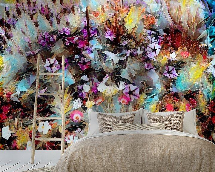 Beispiel fototapete: Blumenwiese Ölmalerei von Patricia Piotrak