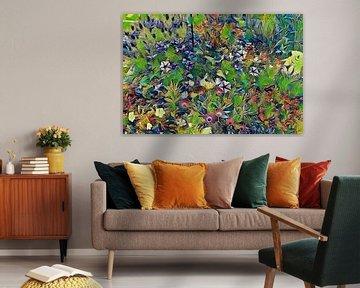 Blumenwiese Pastell von Patricia Piotrak