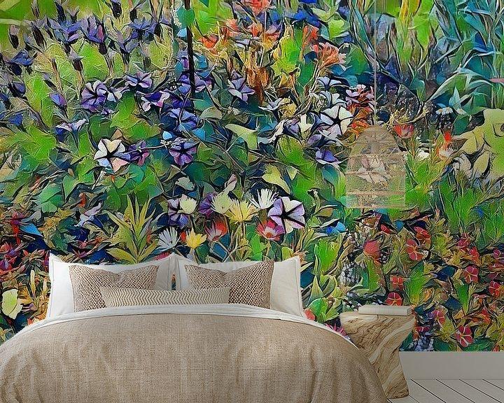 Beispiel fototapete: Blumenwiese Pastell von Patricia Piotrak
