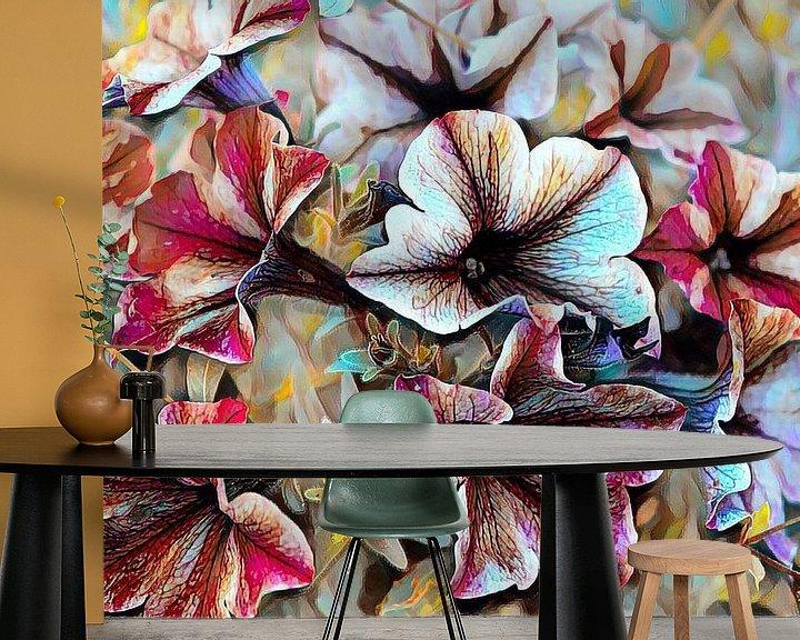 Beispiel fototapete: Sommerblumen Ölmalerei von Patricia Piotrak