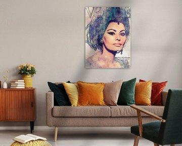 Sophia Loren von Rene Ladenius Digital Art