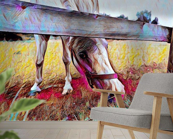 Beispiel fototapete: Pferd auf der Wiese Malerei von Patricia Piotrak