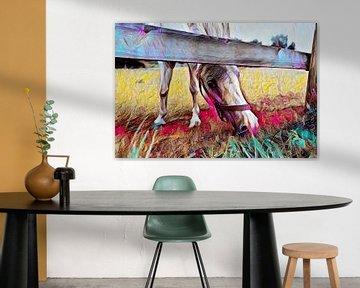 Pferd auf der Wiese Malerei von Patricia Piotrak