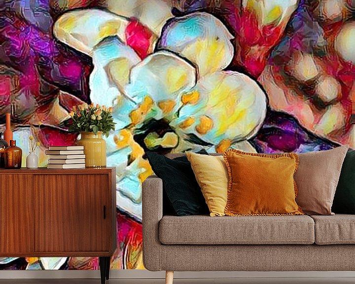 Beispiel fototapete: Kirschblüte Ölmalerei von Patricia Piotrak