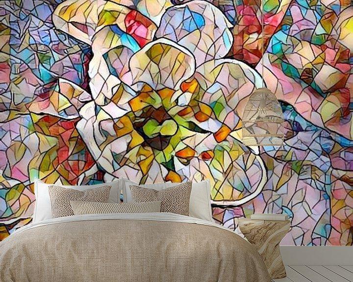 Beispiel fototapete: Kirschblüte Mosaik von Patricia Piotrak