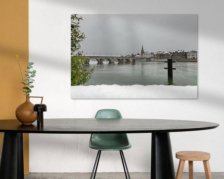 Sfeerimpressie: Winterse kijk op Wyck, Maastricht en de Sint Servaasbrug van Kim Willems